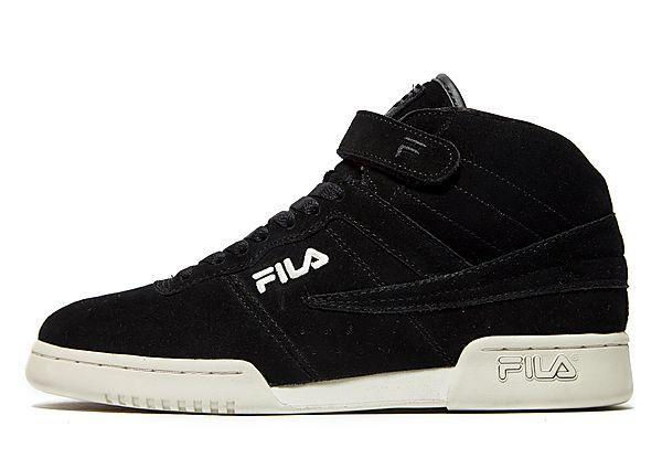 black fila trainers