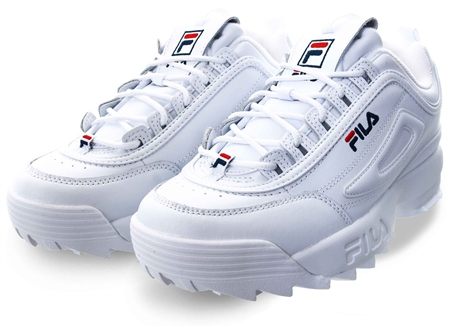 white fila trainers